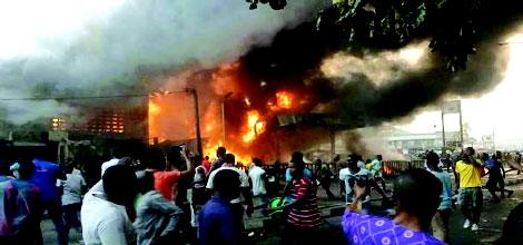 Fire destroys Petrol station in Akwa Ibom