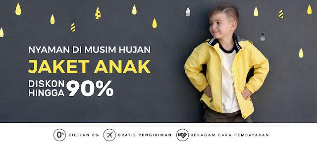 Promo Jaket Untuk Anak Hingga 90% dari Blibli
