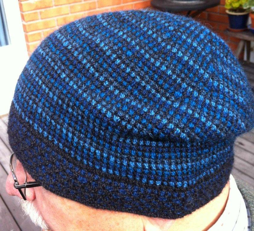 My next project discovering Tunisian crochet in the round is a hat. I chose  my favourite yarn from Wålstedts to get god quality. It is a two-ply 1f9e35ac6b3