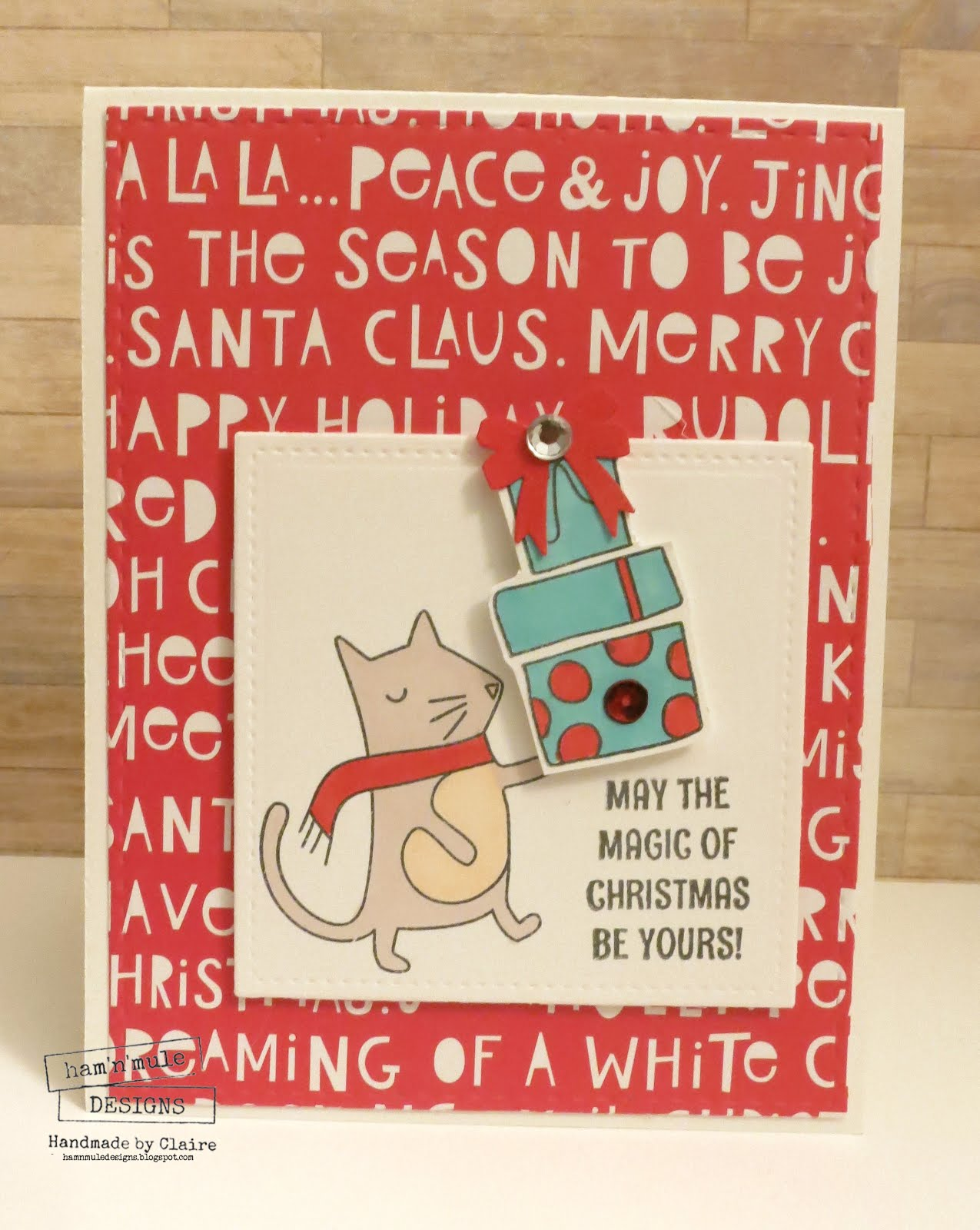 Ham\'n\'Mule Designs: Simon Says..Christmas Cards..
