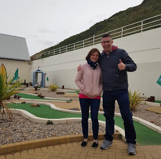 Emily and Richard Gottfried at Saltburn Minigolf course