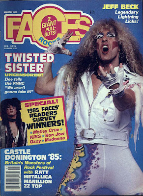 Faces rock magazine with Dee on the cover March 1986