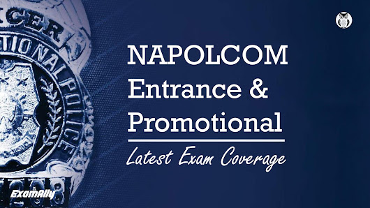 Latest NAPOLCOM Exam Coverage, Scope, Passing Score and Tips ~ Exam Ally