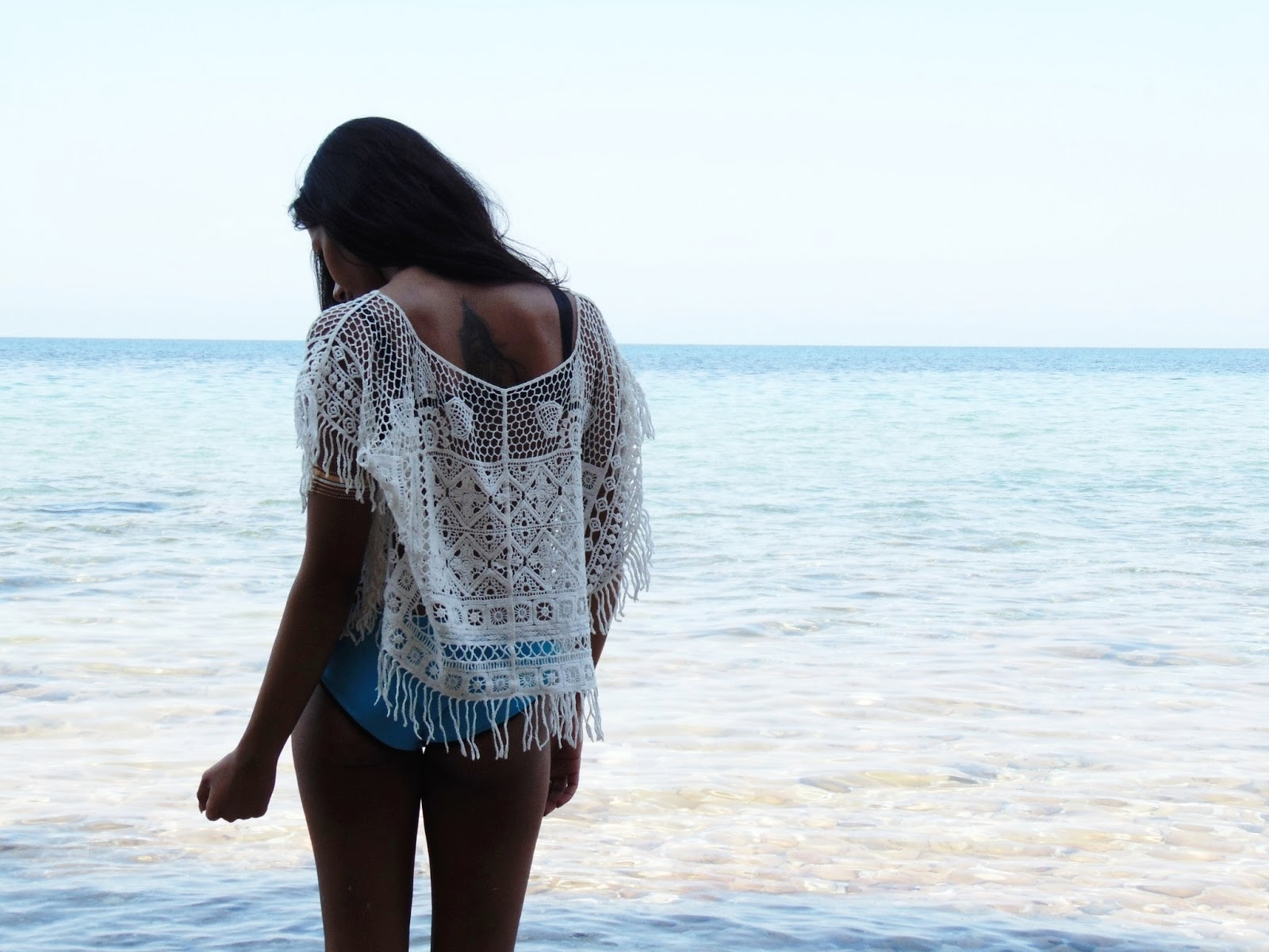 bohemian crochet top for summer