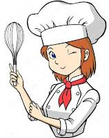 ilustração de mulher cozinhando