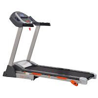 Sunny Health & Fitness SF-T7635 Treadmill, with 2.2 peak DC HP motor, speed range from 0.6 to 0.5 mph, 3 incline levels, 12 programs