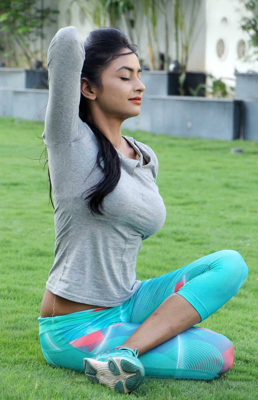 Pooja Sri Latest Hot Yoga Photoshoot Stills  Hq Pics N -1917