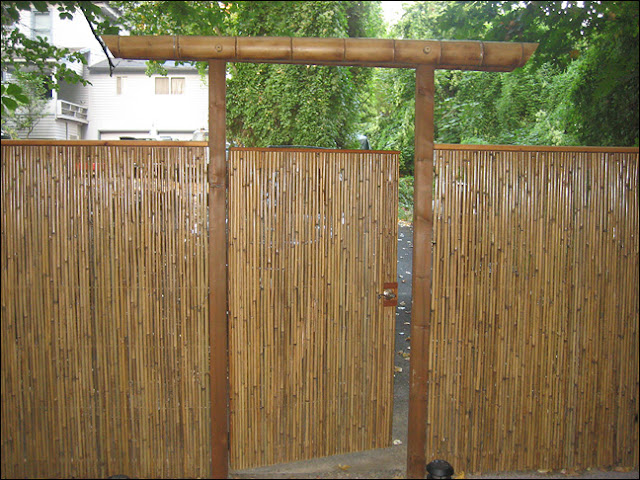 Bamboo Arbor With Gate Bamboo Craft Photo
