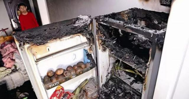 Rumahnya Hampir Terbakar Karena Kulkasnya Meledak, Saat Dicek Ternyata 3 Benda ini Penyebabnya