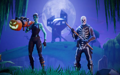 Fortnite Battle Royale Halloween - Fond d'écran en Full HD 1080p