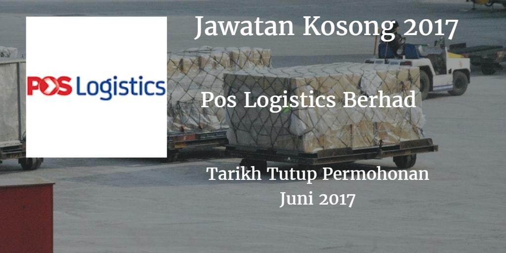 Jawatan Kosong Pos Logistics Berhad Juni 2017
