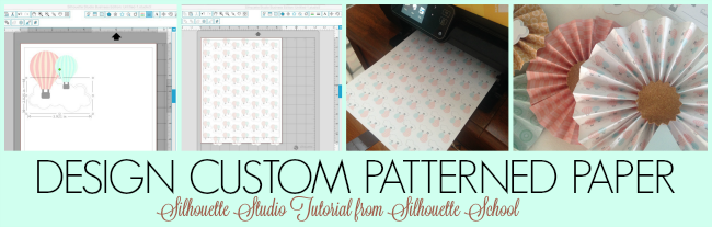 Silhouette Studio, custom patterned paper, Silhouette tutorial