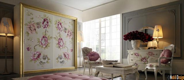 Mobila italiana stil clasic de lux - Mobila dormitor Italia | Set - mobila  - dormitor  - Italia | Dulap - haine  - dormitor - producator  - Italia.