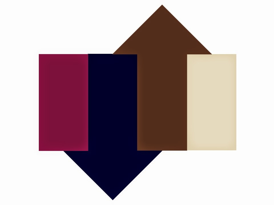 Color scheme of Berry, Beige, Navy and Brown