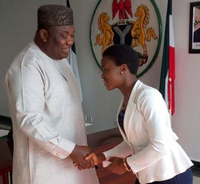 Enugu State Governor bestows scholarship on student who got all A's in her WAEC