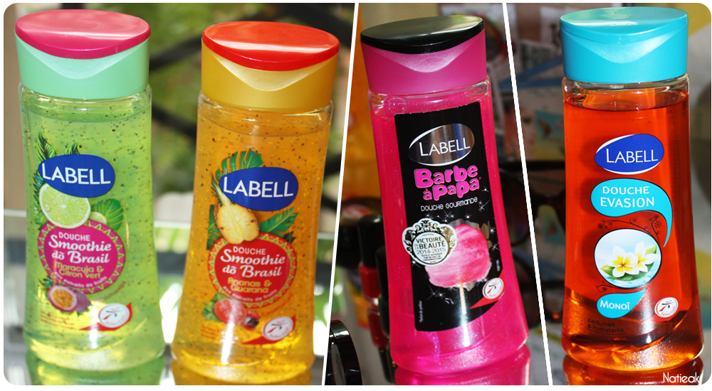 Labell smoothie do Brazill, barbapapa et Monoi douche evasion