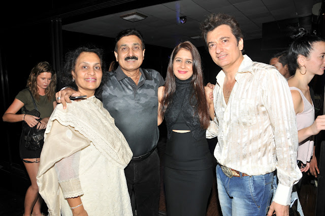 Avinash Wadhawan with Wife Natasha Wadhawan  & Friends