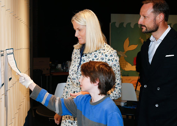 "Princess Mette-Marit and Prince Haakon attended the opening of the exhibition ""Hope for the Ocean"" (Håp for havet)"