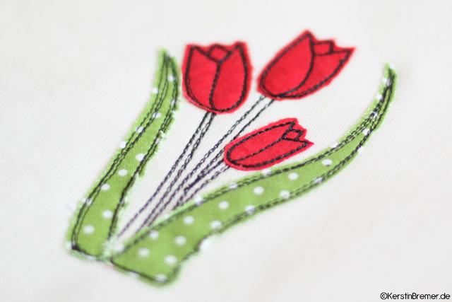 Tulpen Doodle Stickdatei