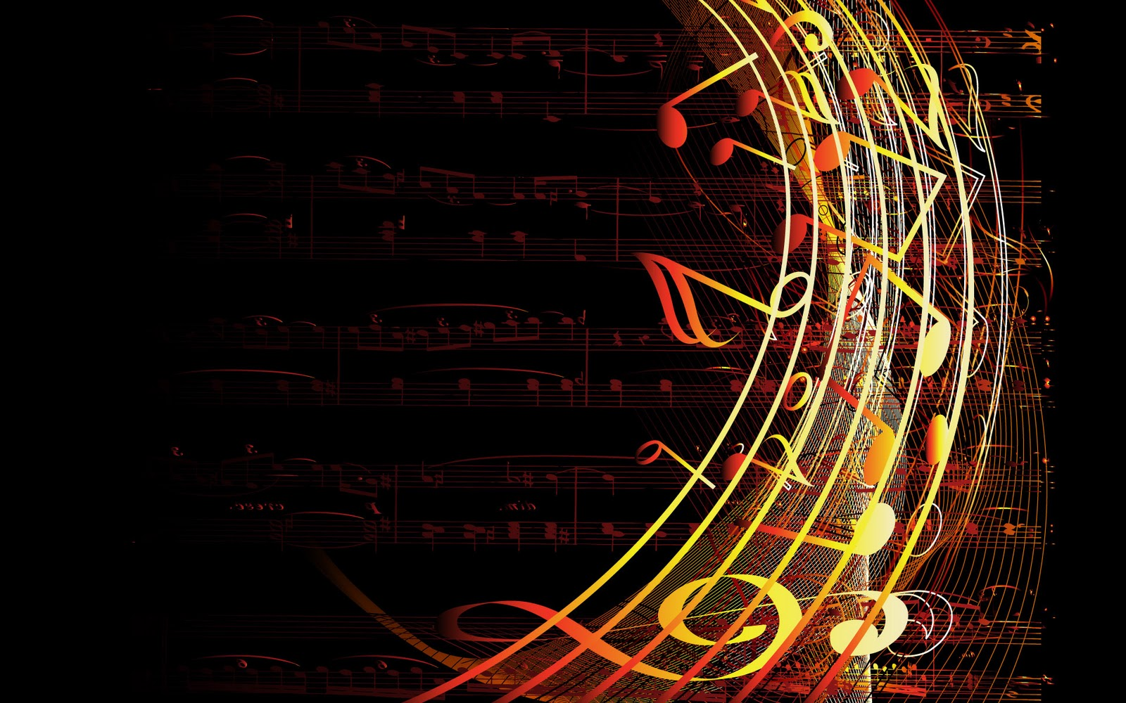 Cool Music Note Wallpapers: Colorful Musical Notes Abstract Wallpaper