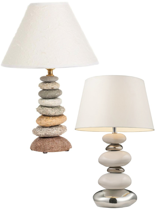 Stacked Beach Rocks Table Lamp