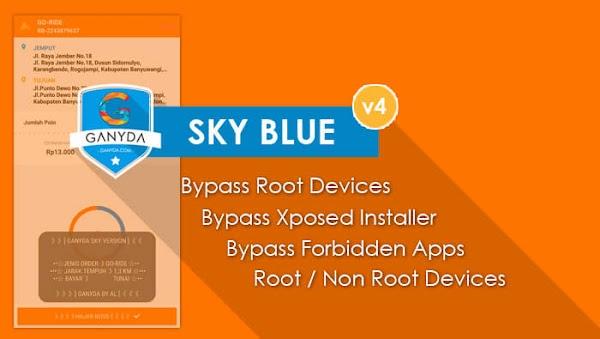 Share Ganyda Sky Blue v4 Gojek Driver v4.2.0 Untuk HP Root & NonRoot