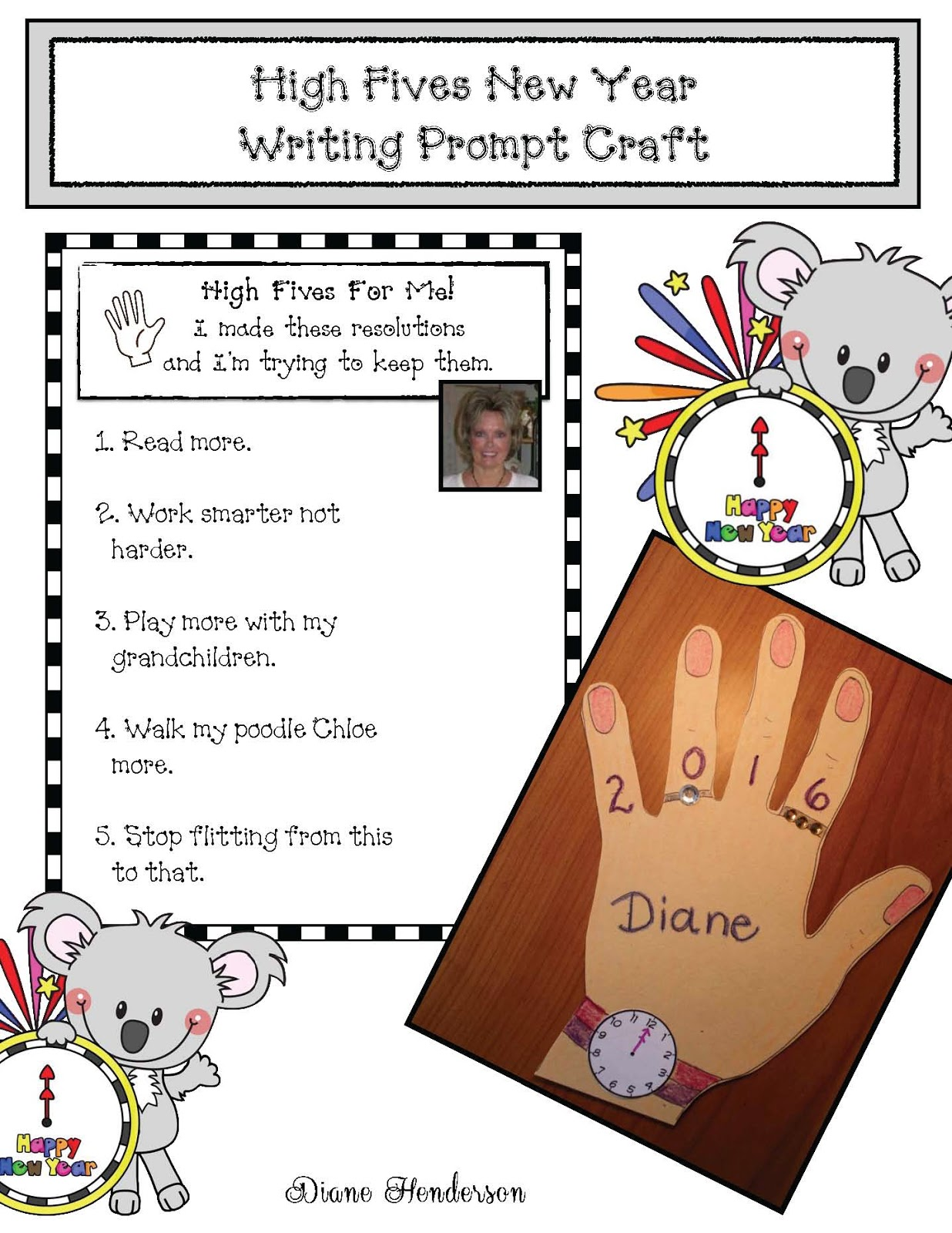 Happy New Year High Fives Writing Prompt Craft
