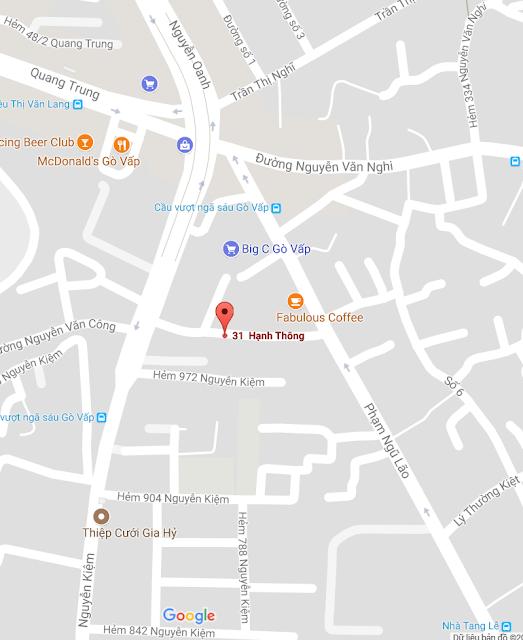 31 Hạnh Thông  phường 3, Q.Gò Vấp, TP.HCM