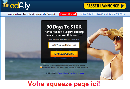 Adfly, CPA et l'affiliation