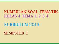 Kumpulan Soal Tematik Kelas 4 Tema 1 2 3 4 Semester 1 Kurikulum 2013