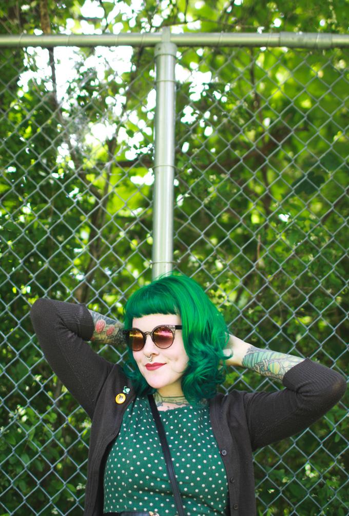 green hair, colourpop, kaylah doolan, cleveland, fashion blog, bumble