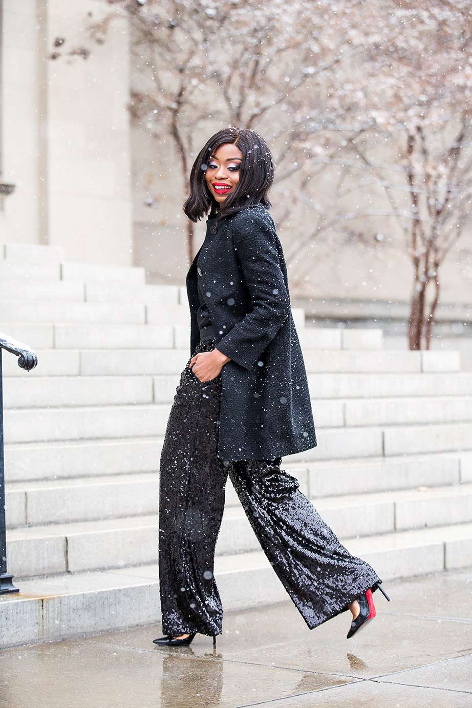 holiday style, sequin palazzo pants, www.jadore-fashion.com