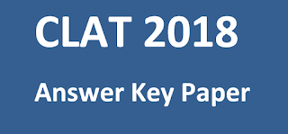 CLAT 2018 Paper and Answer Key Paper 2018