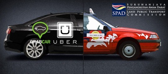 Perkhidmatan Grab Car, Uber dan Teksi