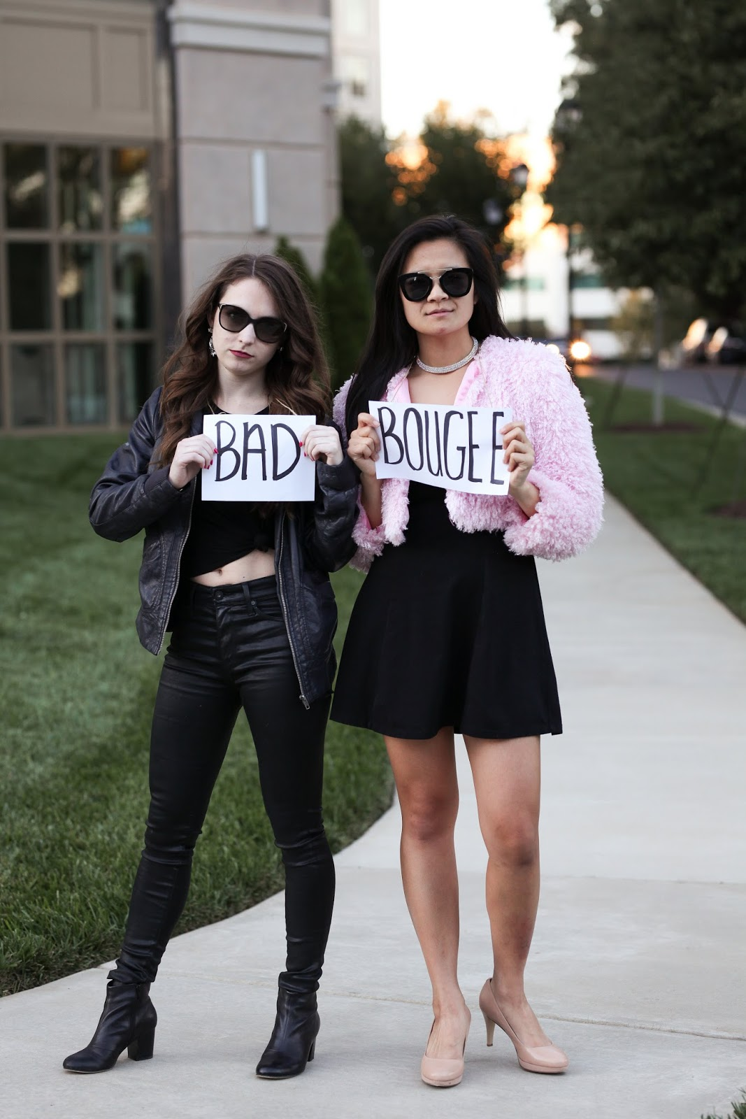 Partner halloween costume idea - bad and boujee - diy costume