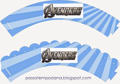 Wrappers para Cupcakes para Imprimir Gratis de los Vengadores.
