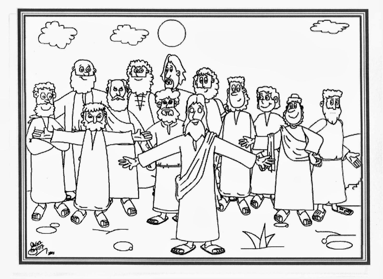 Imagenes Cristianas Para Colorear Dibujos Para Colorear De Los Doce Discipulos