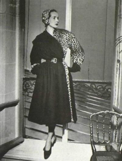 "Christian Dior A/H 1949-50 ""Bateleur"". Photo Georges Saad.  Mannequin Svetlana."