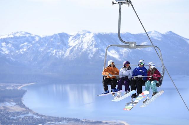 Teleférico com criança em South Lake Tahoe