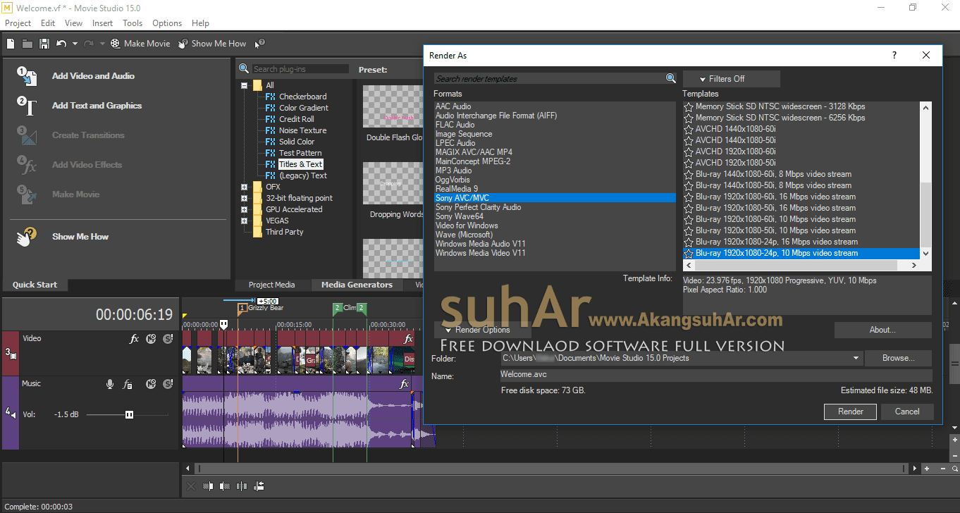 Download MAGIX VEGAS Movie Studio Terbaru Gratis, MAGIX VEGAS Movie Studio Cracked, MAGIX VEGAS Movie Studio Offline Installer
