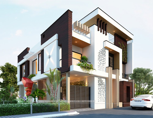 Villa Elevation Design & 3D Front Elevation For the Modern Home Designs.