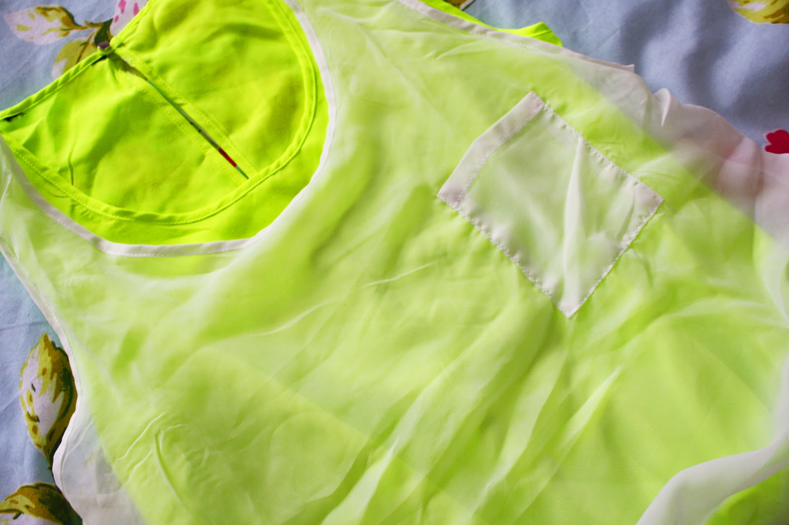 A neon Yellow playsuit from SheInside