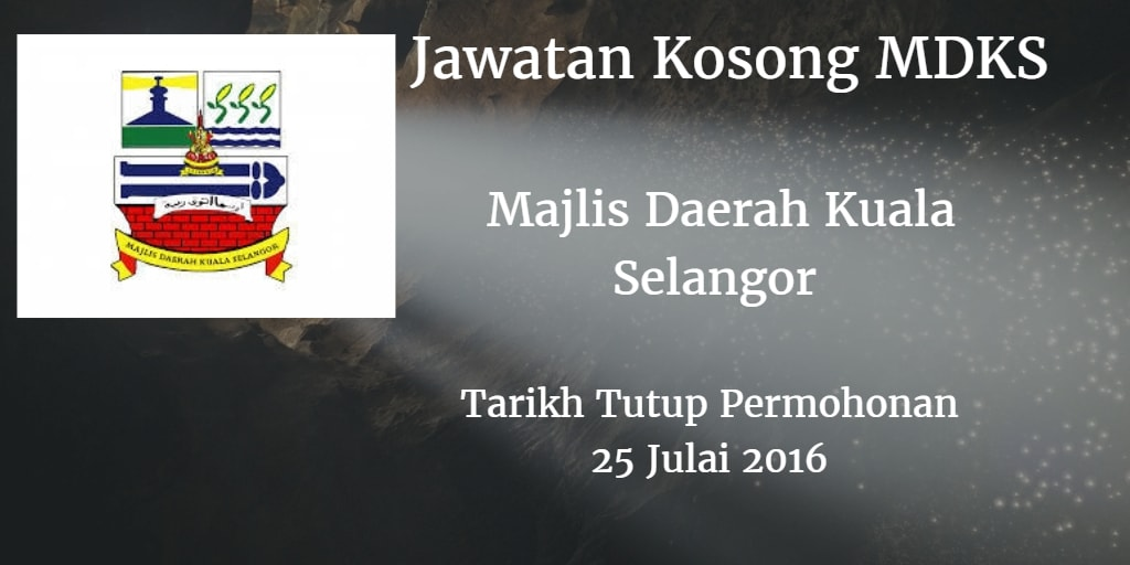 Jawatan Kosong MDKS  25 Julai 2016