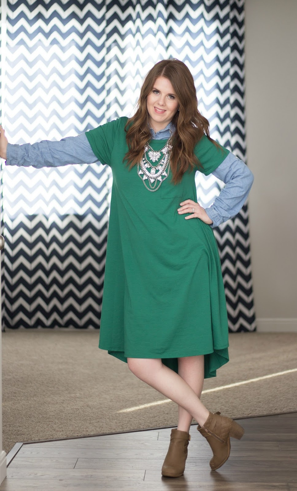 Lularoe Carly Outfit Idea: Layered for Winter