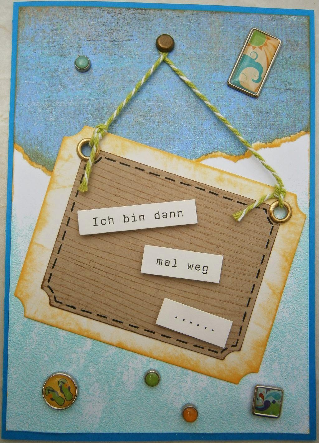 A'inahs Traumkiste: Karten-Ketting: Ich bin dann mal weg