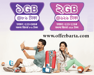 Airtel Weekly 89TK And 129TK Amazing Internet Offers 2017 - posted by www.offerbarta.com
