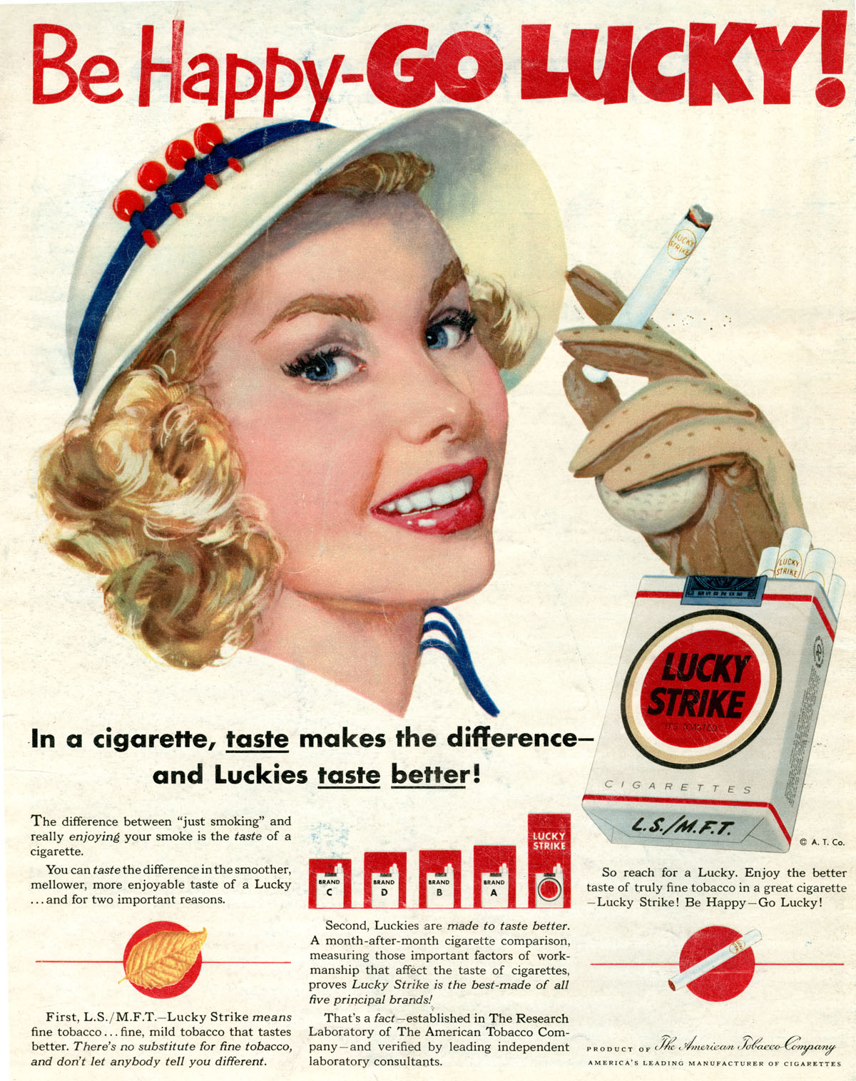 Quot Be Happy Go Lucky Quot The Appeal Of Vintage Lucky Strike