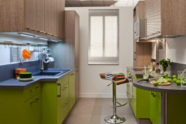 linda cocina pequeña moderna
