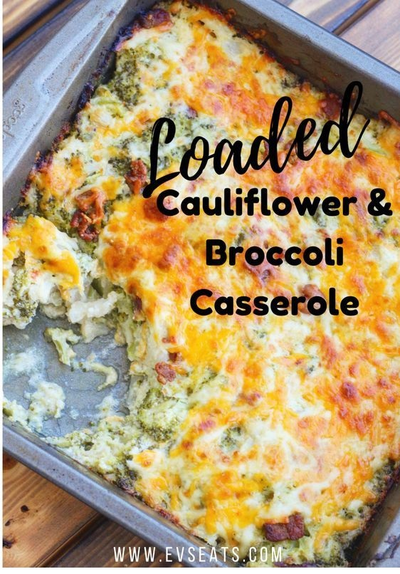 Loaded Cauliflower Broccoli Casserole
