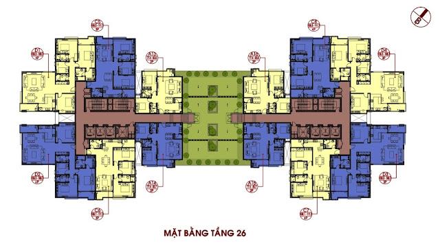 Mặt bằng điển hình tầng 26